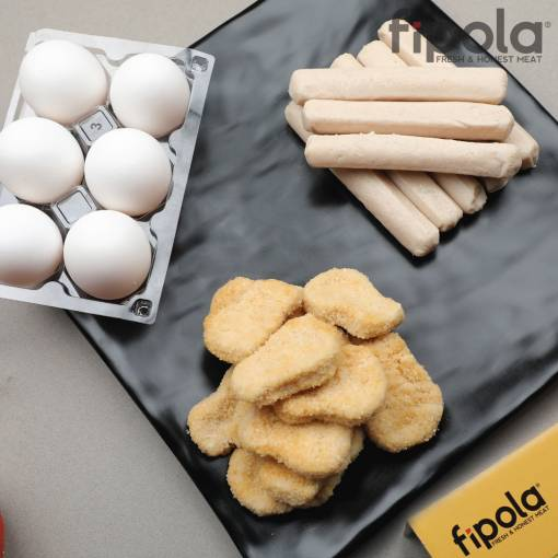 Breakfast- Combo (1pack of Natural Eggs + 250g Breakfast Sausage + 250g Chicken Nuggets Plain)